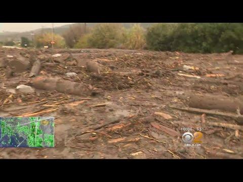 Mudslides Close 101 Freeway In Carpinteria