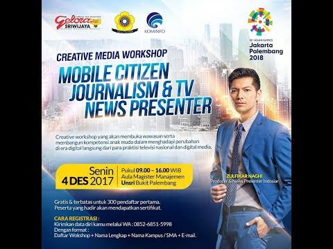 Creative Media Workshop Mobile Citizen Journalisme & TV News Presenter