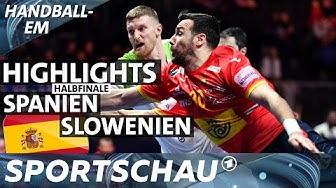Highlights: Halbfinale Spanien gegen Slowenien | Handball-EM | Sportschau