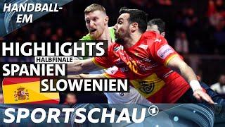Highlights: Halbfinale Spanien gegen Slowenien   Handball-EM   Sportschau