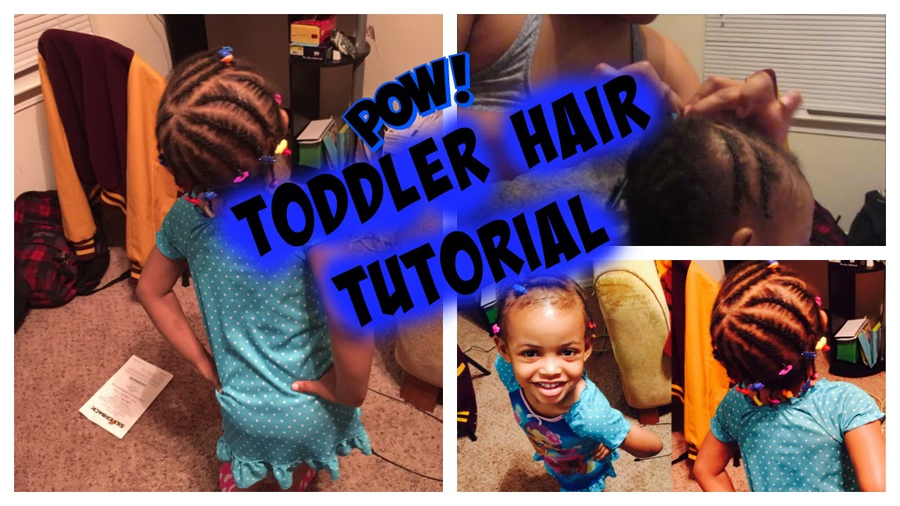 Hair Tutorial Braiding Toddlers Short Black Curly Daily Vlog Mommyandkailyn Youtube
