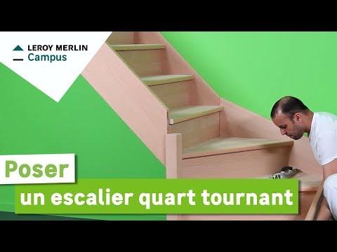 Comment poser un escalier quart tournant ? Leroy Merlin