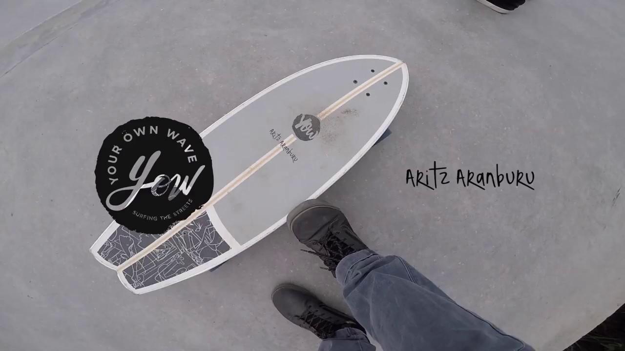 Adultos Unisex Multicolor YOW Aritz Aranburu 30.5 Signature Series Surfskate Skateboard Multicolor
