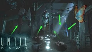 ALL THE DEAD HEADS AND BODIES found by SamMike Until Dawn