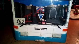 Обзор готовой модели автобуса Mercedes-Benz O405N² в масштабе 1:43
