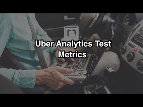 Uber Analytics Test - Understanding Uber Metrics