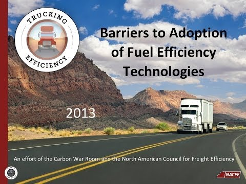 NACFE Barriers to Adoption of Fuel Efficiency Technologies