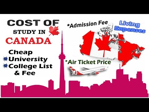 Cost Of Study In Canada For International Students, Complete Details