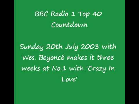BBC Radio 1 Tom Browne UK Top 20 Singles Chart Countdown ...