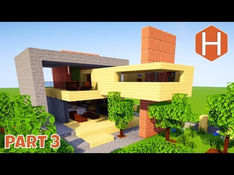 Modern House #1 Part 3  Interior Minecraft Tutorial Let's Build