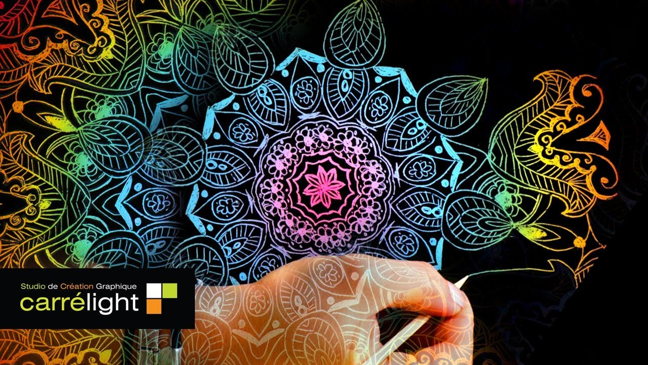 TEST Carte Gratter Mandala Speed Coloring Coloriage
