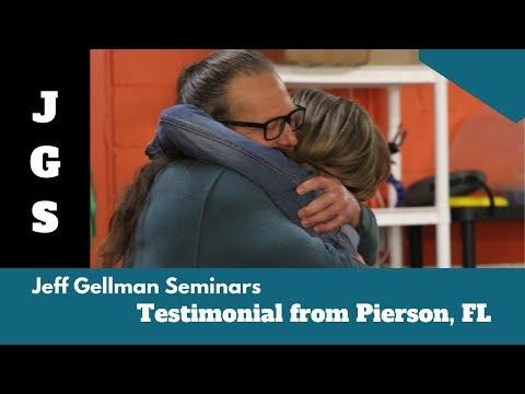 Testimonial from Pierson FL - Jeff Gellman Seminars - 동영상
