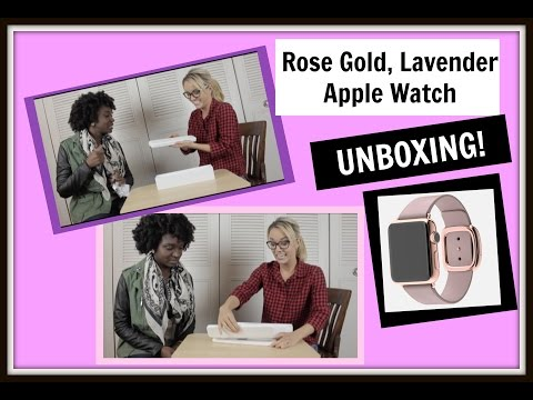 Rose Gold, Lavender Apple Watch Unboxing!