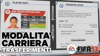 FIFA 13 - I trasferimenti nella Modalità Carriera