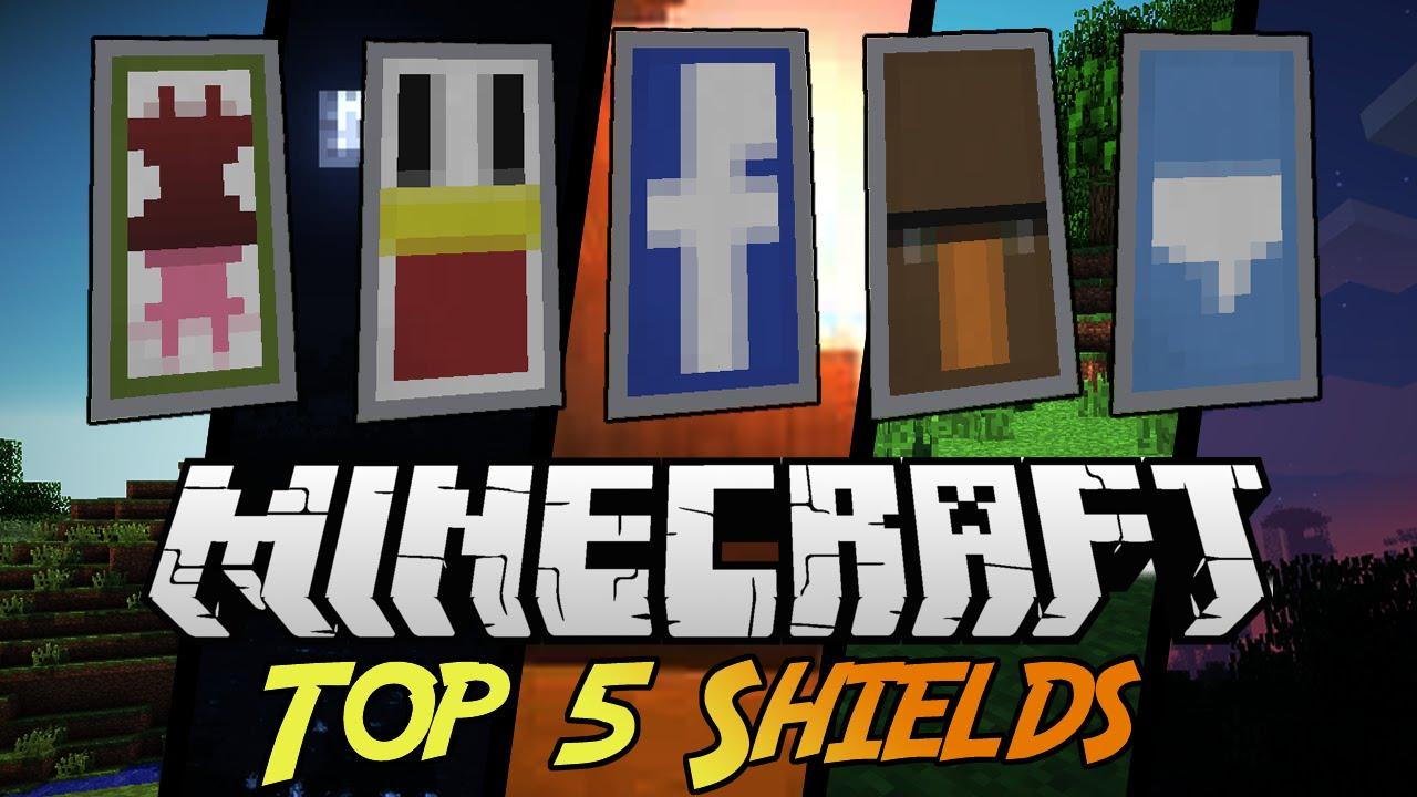 Top 5 Shield Designs  With Tutorial  Minecraft 1 9