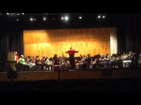 Bluefield High School Band 2015 Christmas Concert- Greensleeves Arr. Alfred Reed