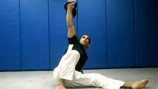 perfectly executed kettlebell full body exercise - turkish get up