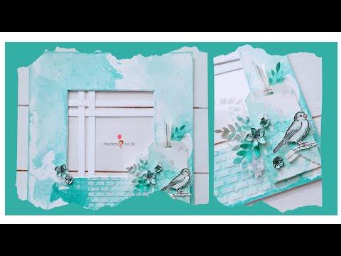 ribba-rahmen-passepartout-/-strukturpaste-/-aquarell-/-ewige-zeige-/-sonnenblumen-/-stampin-up!