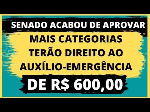 URGENTE! SENADO APROVA E AMPLIA AUXÍLIO DE R$ 600,00