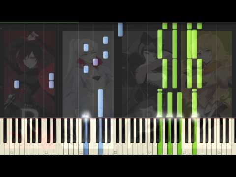 [RWBY] red like roses Piano Synthesia Tutorial