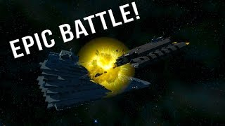 STARGATE Daedalus VS STAR DESTROYER! - Space Engineers BATTLE
