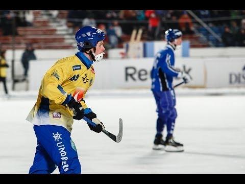 Открытие 34-го чемпионата, Швеция-Финляндия, 1 тайм, Bandy World Champ 2014
