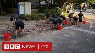 香港示威:解放軍現身街頭 「自發」清理路障- BBC News 中文