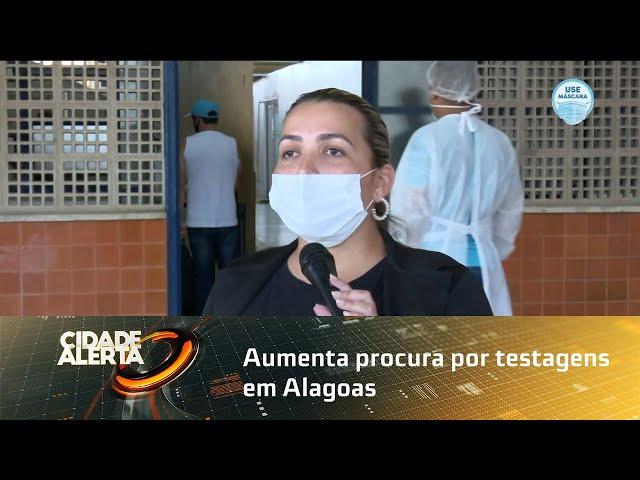 COVID-19: aumenta procura por testagens em Alagoas