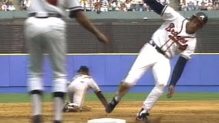 1991NLCS Gm5: Justice misses third, run doesn