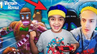 Little Kid Turned Into Ninja & Won Every Fortnite Game! (6 Year Old Pro Fortnite Player!)