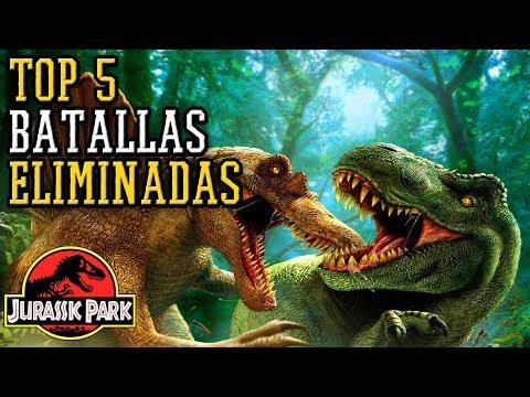 Cinco Batallas Eliminadas de Dinosaurios | Saga Jurassic Park