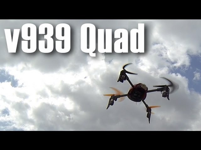 V939 Quad - Great Training for flying QuadCopters - Thomas learning to fly a Quad Hero3