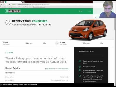 Enterprise Rent-A-Car Usability Testing Demo