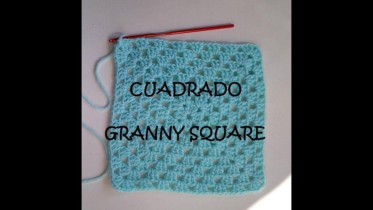 Clase 9: Cómo hacer un cuadrado granny square de crochet. Ganchillo ...