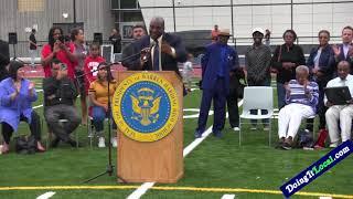 Bridgeport CT--Harding High School Football Field Dedication
