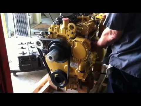 Caterpillar Skid Steer >> Test CAT 3054c - YouTube