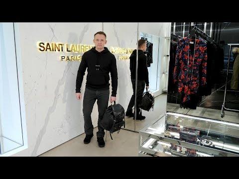 Мужская линия Saint Laurent, спорт-стайл из новой коллекции.