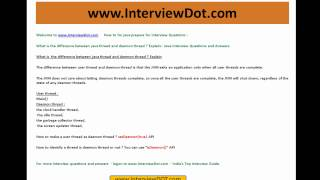 what is the difference between java user thread and daemon thread java interview