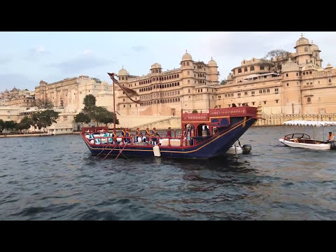 Taj Lake Palace Udaipur luxury hotels India Drone Video Allan Blanchard review
