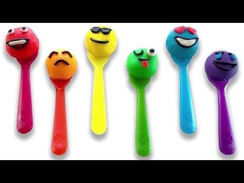 Thumbnail: Learn Colors with Play Doh Smiley Faces and Rainbow Spoons Fun & Creative for Toddlers