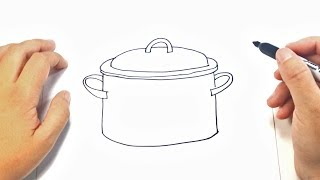 How to draw a Cooking pot | Cooking pot Easy Draw Tutorial