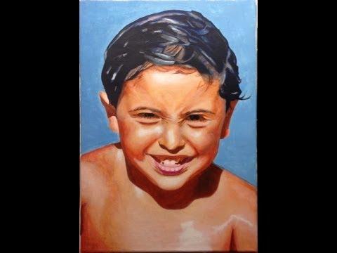 Comment peindre un portrait réaliste avec couleur chair - YouTube