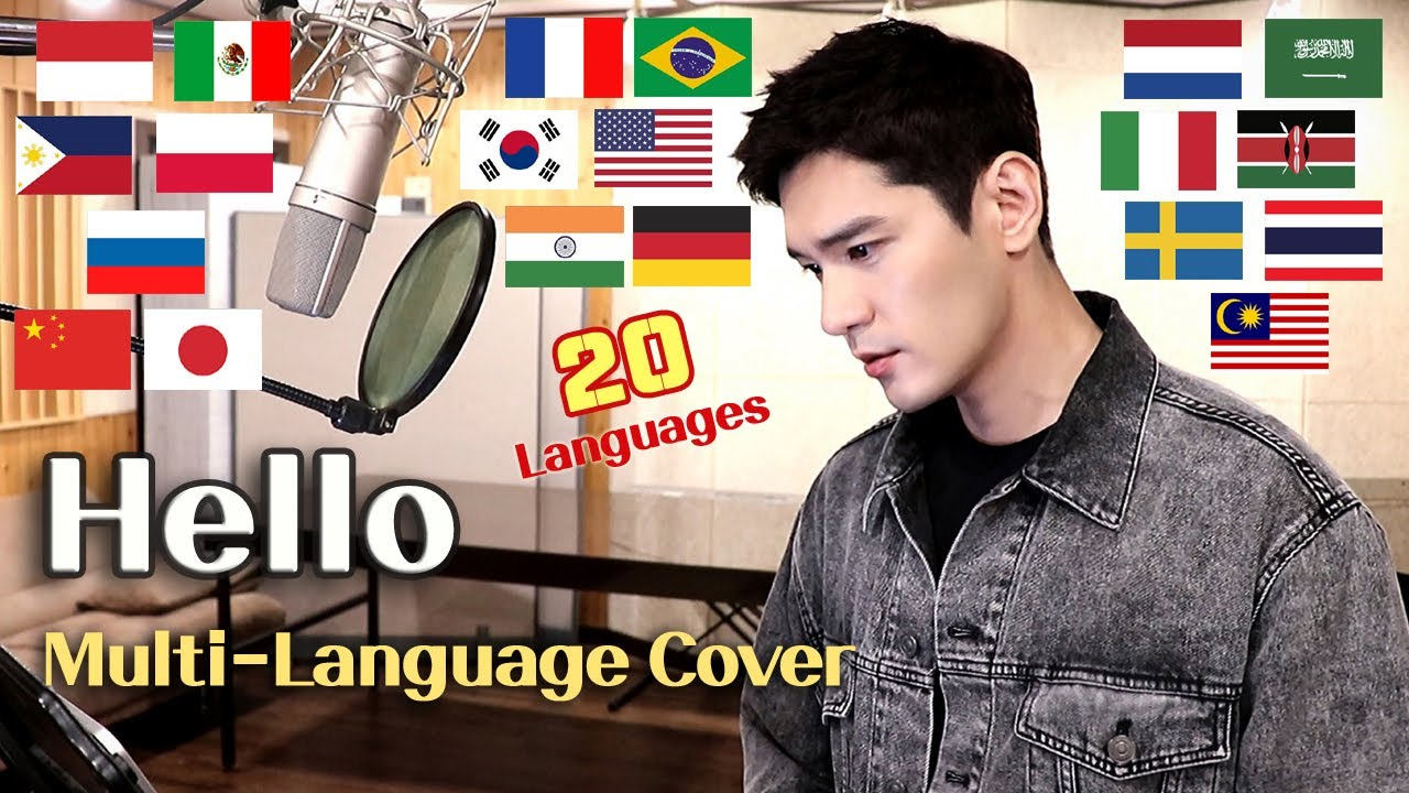 Hello (Adele) Multi-Language Cover in 20 Different Languages - Travys Kim