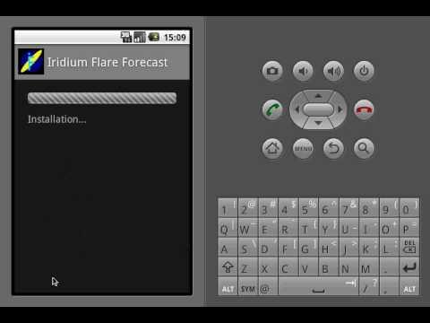Demo Iridium Flare Forecast on Android Donut 1.6