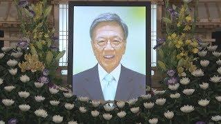 翁長氏通夜、急逝惜しむ 「全力で沖縄に尽くした」