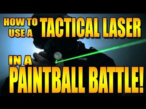 TACTICAL LASER IN A PAINTBALL BATTLE!?!?!