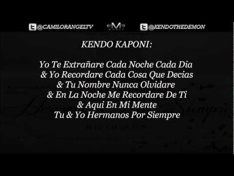 HERMANOS POR SIEMPRE (CON LETRA) - KENDO KAPONI