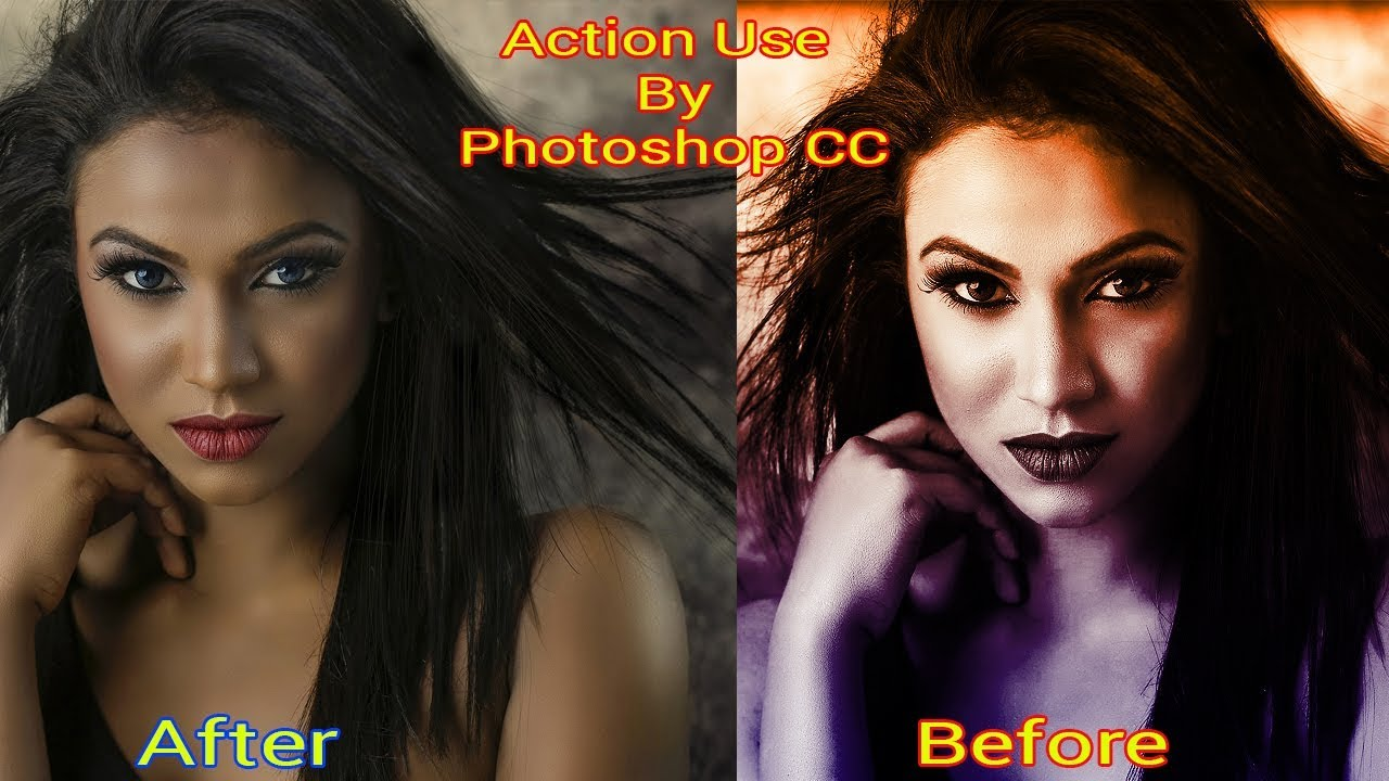 How to Use Action in photoshop CC | Photoshop Effect | Adobe Photoshop CC