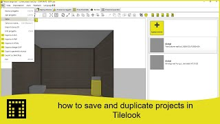 How to save and duplicate projects in tilelook