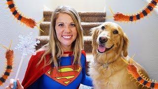 Super Girl And Sammie Use Pretend Play Magic!